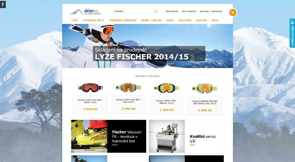 skier.cz web